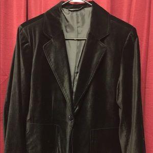 Briggs New York-Blk Velvet Jacket w/single button